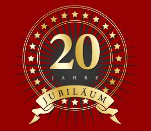 Logo 20 jähriges Jubiläum Wühler & Gebauer
